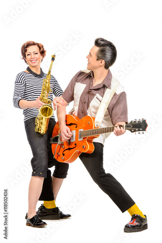 musical duo Poster