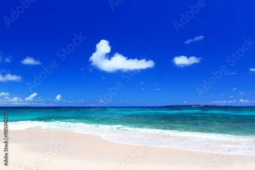 Aluminium Donkerblauw 沖縄の美しい海とさわやかな空
