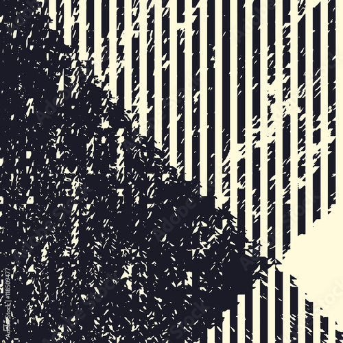 Plakat Abstract grunge vector background. Monochrome raster composition of irregular graphic elements.