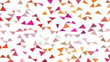 Coloring triangular background sequentially stop motion animation