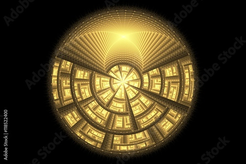 Obraz fractal Golden ball