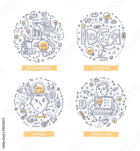 Fototapeta Idea Doodle Illustrations