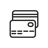 credit card icon on white background