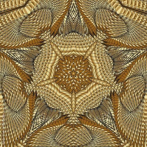 Zdjęcia na płótnie, fototapety, obrazy : Калейдоскопический золотой узор