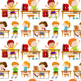 Seamless students in classroom