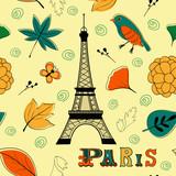Paris autumn seamless pattern