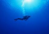 Woman scuba diver under - 118559816