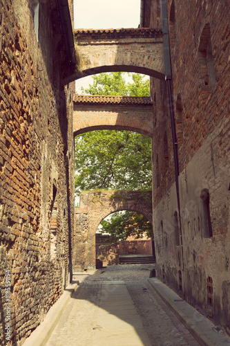 Fototapeta medieval street in Torun