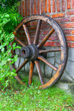 wooden carriage wheel