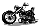 Fototapety Vector Cartoon Motorbike. Available EPS-8 vector format separated by layers for easy edit
