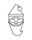 santa cartoon merry chistmas celebration icon. Flat and Isolated illustration. Vector illustration