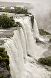Waterfall cascade in the Iguazu