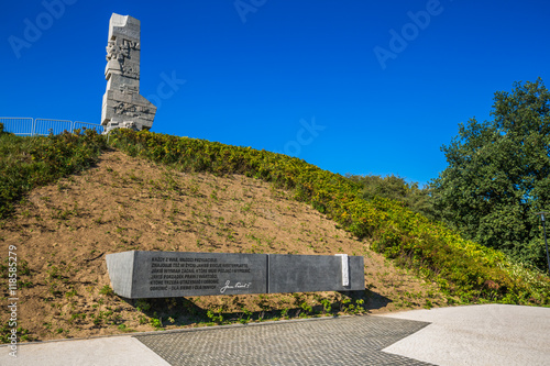 Poster Gdansk,Poland-September 19,2015:Westerplatte. Monument commemora