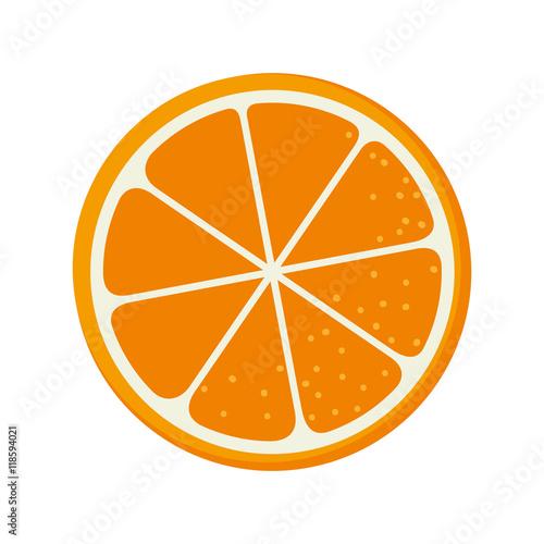 orange fruit food natural organic nutrition nature vector illustration