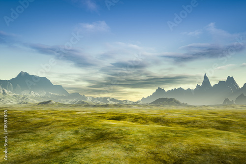 a fantasy scenery without plants