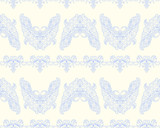 Butterfly decorative Victorian seamless pattern