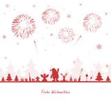 Fototapety Weihnachten Feuerwerk