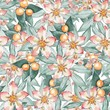 Blooming garden. Floral seamless pattern. Watercolor painting 11 - 118608858