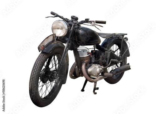 Foto op Aluminium Fiets altes antikes oldtimer motorrad, vintage bike