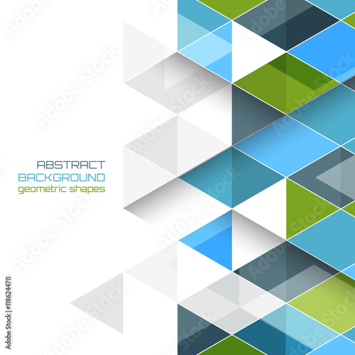 Abstract vector background with geometric shapes. - 118624470