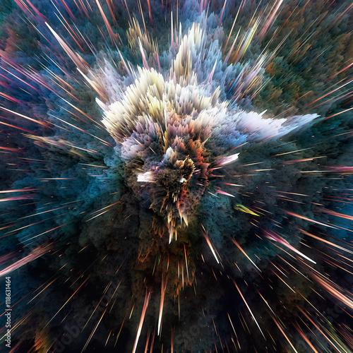 Fototapeta Colorful galaxy clouds and big bang abstract star texture