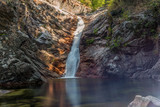 Secluded waterfall on the mountains in Corsica - 2