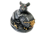 mouse and Chinese figurine of holy object with white isolate background