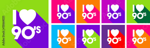 Plexiglas Pop Art I love 90's