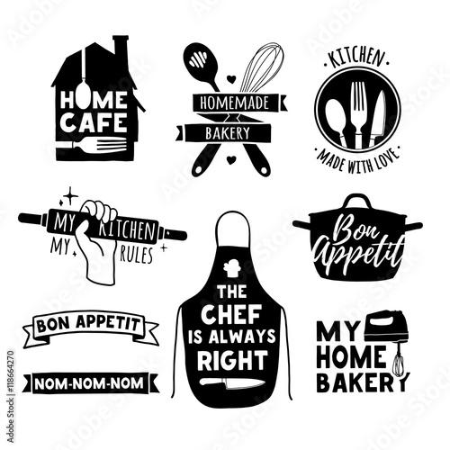 Set Of Vintage Retro Handmade Badges Labels And Logo Elements