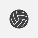 Volleyball icon vector, solid logo illustration, pictogram isolated on white