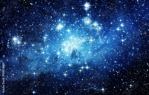 Deurstickers Heelal Universe filled with stars, nebula and galaxy. Elements of this image furnished by NASA.