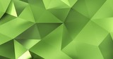 3d green abstract geometric polygon surface motion background loop 4k