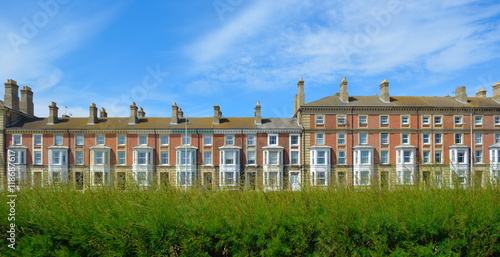 Period seafront properties at Lowestoft Suffolk England. Poster