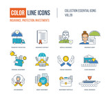 Color Line icons collection.