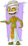Cartoon funny green Egyptian mummy