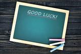 Good luck text on school board