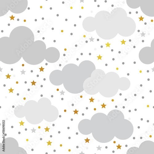 Cotton fabric Scandy gold pattern set ser 4
