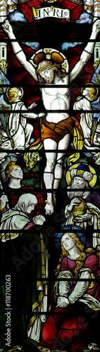 Naklejka Jesus Christ crucified (stained glass)