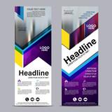 Roll up layout template. flag flyer banner backdrop design. vector illustration background
