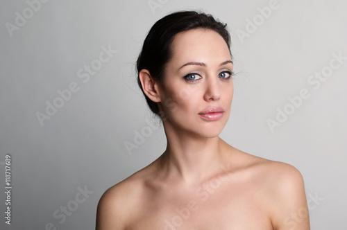 portrait of beautiful brunet women Poster