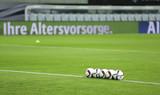Foto :  Bälle liegen auf dem Rasen ...  Fussball Länderspiel ,  So. 11.10.2015 ,  Deutschland - Georgien 2 - 1 ,  © Claus Bergmann - 118721064