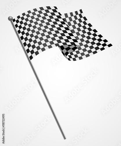 Fotobehang F1 Illustration of a racing flag
