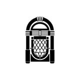 Fototapety Vector Retro Jukebox Icon