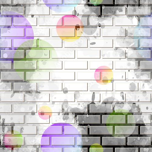 Papiers peints Graffiti brick wall, graffiti
