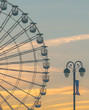 Ferris Wheel and Light Post