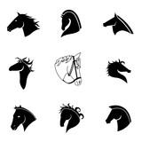 Horse vector set.