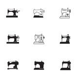 Sewing machine vector set.
