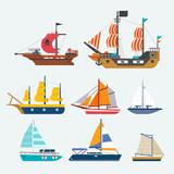 vector of sailboat