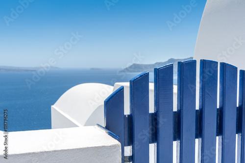 Papiers peints Santorini View on the caldera of Santorini from Oia village