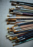 Row of Painting Brushes